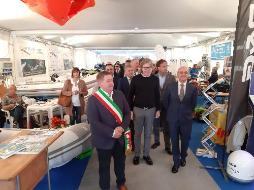 L'assessore regionale alle Attività produttive Sergio Emidio Bini all'inaugurazione di Nautilia.