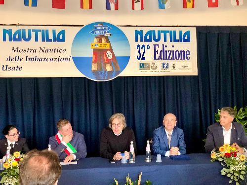 L'intervento dell'assessore alle Attività produttive, Sergio Emidio Bini, all'evento inaugurale della 32.Nautilia