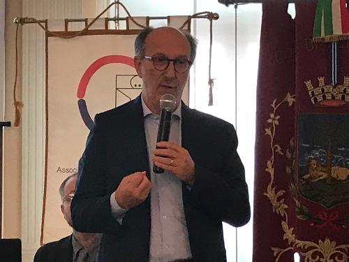 Il vicegovernatore del FVG con delega alla salute Riccardo Riccardi all'assemblea dell'associazione nazionale emodializzati dialisi e trapianto (Aned) Friuli Venezia Giulia a Palmanova