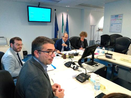 L'assessore alle Autonomie locali del Friuli Venezia Giulia, Pierpaolo Roberti, interviene alla seduta del Consiglio delle Autonomie locali - Udine, 28 ottobre 2019.