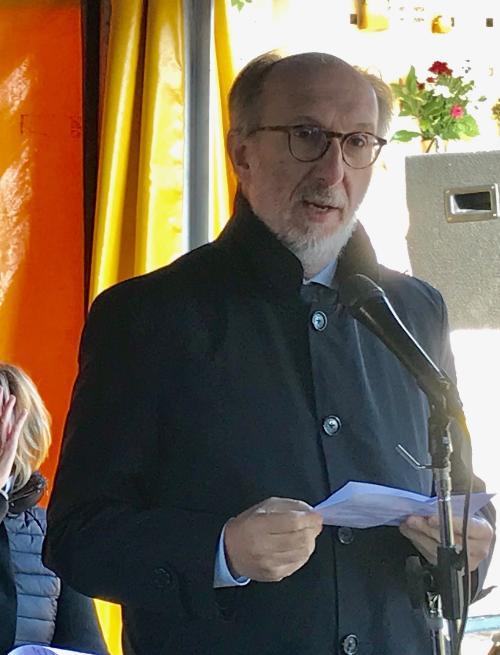 Il discorso del vicegovernatore del Friuli Venezia Giulia, Riccardo Riccardi, in occasione della commemorazione nel Sacrario monumentale a Gonars.