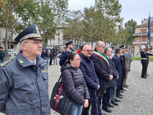 L'assessore regionale Sebastiano Callari alla cerimonia del Parco della rimembranza a Gorizia
