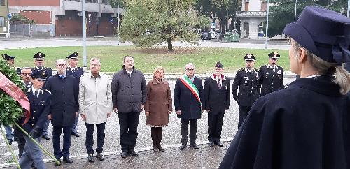 Il vicegovernatore del Friuli Venezia Giulia, Riccardo Riccardi, durante la cerimonia di commemorazione dei caduti della Polizia di Stato - Udine, 2 novembre 2019.