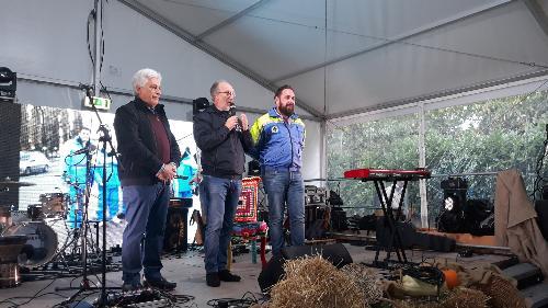 Il vicegovernatore Riccardi interviene alla manifestazione Gaudeamus Aquileia con il sindaco Emanuele Zorino e il consigliere regionale Roberto Mattiussi