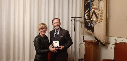 L'assessore alle Finanze del Friuli Venezia Giulia, Barbara Zilli, a Palazzo D'Aronco incontra l'ambasciatore tedesco in Italia, Viktor Elbling - Udine, 5 novembre 2019.
