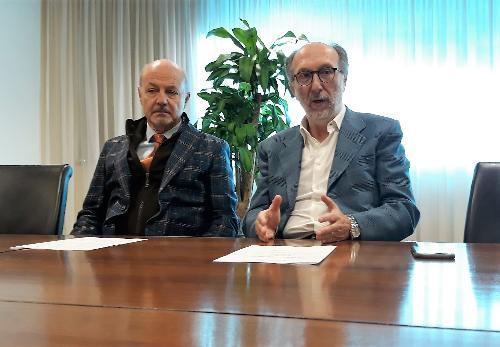 Il vicegovernatore del FVG Riccardo Riccardi con il Difensore civico con funzioni di Garante per il diritto alla Salute Arrigo De Pauli