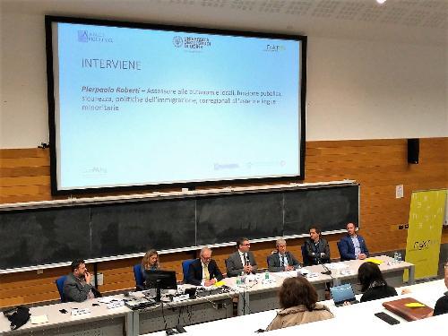 L'assessore Roberti alla tavola rotonda al polo giuridico dell'Università di Udine