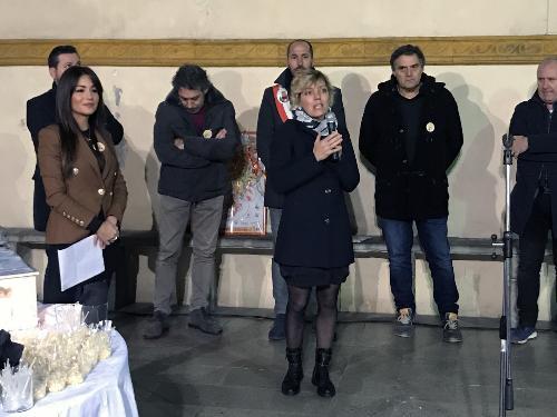 L'assessore alle Finanze Barbara Zilli alla cerimonia di inaugurazione della 20. edizione di Formaggio e dintorni a Gemona
