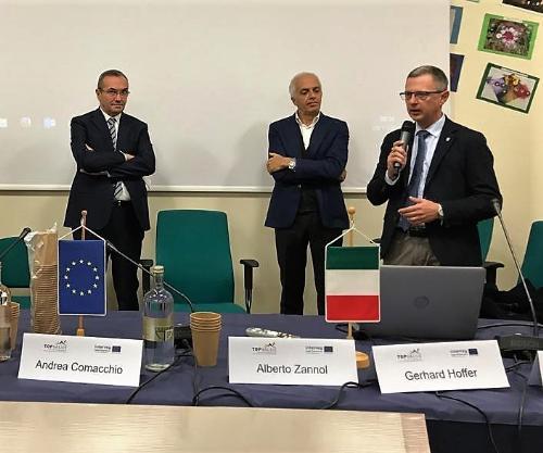 L'intervento dell'assessore alle Risorse Agroalimentari e alla Montagna del Fvg, Stefano Zannier, in occasione del convegno conclusivo dedicato al progetto Interreg V-A Italia-Austria 2014-2020.