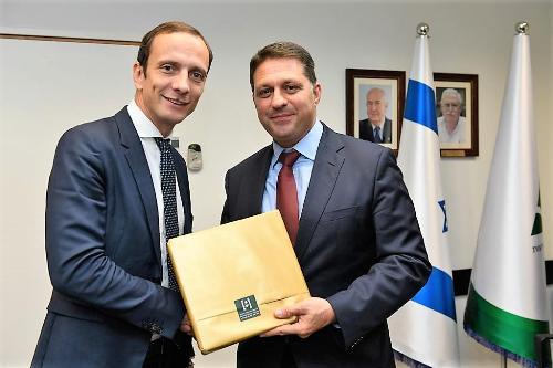Il governatore del FVG Massimiliano Fedriga con Haim Bibas sindaco di Modi'in-Maccabim-Re'ut
