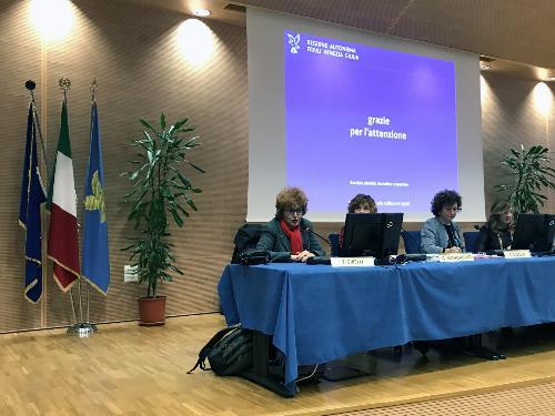 L'intervento dell'assessore regionale allo Sport Tiziana Gibelli nel corso dell'Infoday svoltosi a Udine
