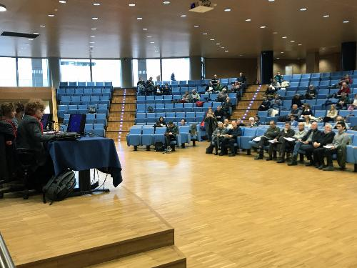 Parte del pubblico presente in sala in occasione dell'Infoday sul bando per le manifestazioni sportive svoltosi a Udine