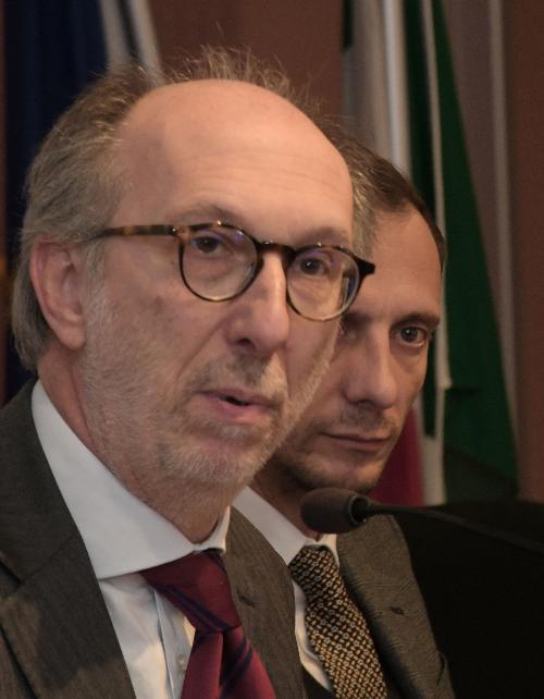 Il governatore Massimiliano Fedriga e il vicegovernatore delegato alla Protezione civile Riccardo Riccardi
