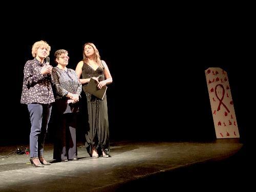 L'intervento dell'assessore Barbara Zilli alla serata di solidarietà dell'Andos