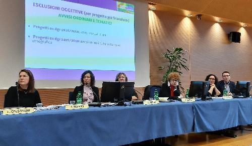 L'assessore regionale alla Cultura del Friuli Venezia Giulia, Tiziana Gibelli, all'Infoday rivolto ad enti pubblici e privati sui nuovi bandi per gli incentivi su iniziative culturali - Udine, 14 novembre 2019.