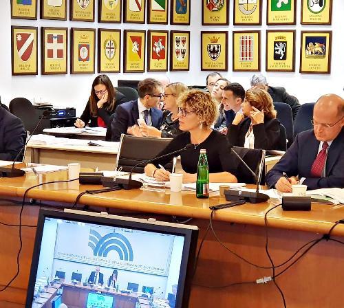 L'assessore regionale alle Finanze Barbara Zilli alla Conferenza delle Regioni a Roma