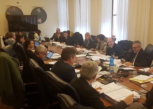 Il vicegovernatore del Friuli Venezia Giulia con delega alla Salute, Riccardo Riccardi, nel corso della seduta delle III Commissione del Consiglio regionale