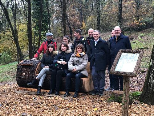 La panchina per il book sharing a Bosco Romagno