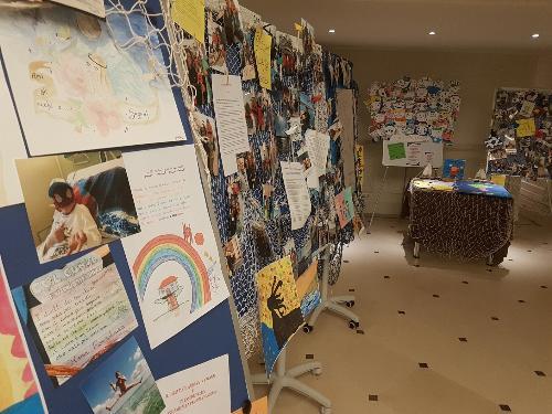 """La mostra allestita in occasione del convegno nazionale """"La scuola in ospedale e l'istruzione domiciliare in Fvg"""" negli spazi del Savoia Excelsior Palace di Trieste."""