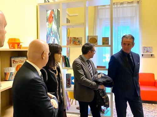 L'assessore Fabio Scoccimarro assieme alle altre autorità alla presentazione della sala Dafne