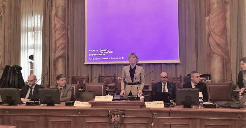 L'assessore alle Finanze del Friuli Venezia Giulia, Barbara Zilli, a Palazzo Belgrado, al quinto comitato di Sorveglianza Por Fesr 2014-2020.