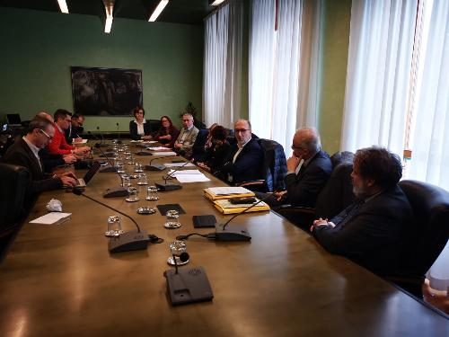 Un momento della presentazione della Rete oncologica del Friuli Venezia Giulia in Consiglio regionale