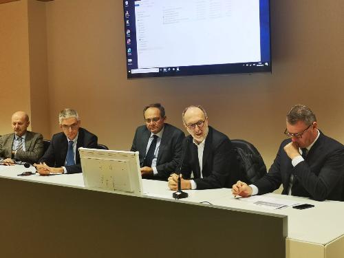 Il vicegovernatore, Riccardo Riccardi, all'incontro del Garante della salute