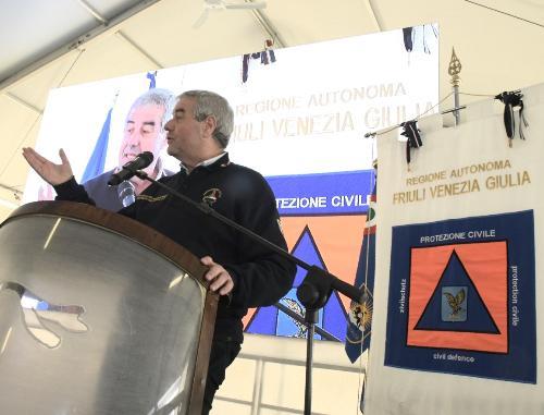 Il capo Dipartimento nazionale della Protezione civile, Angelo Borrelli, interviene alla 21^ Giornata del volontario - Rivolto (Udine), 30 novembre 2019.