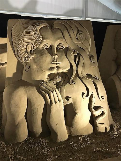 Il presepe di sabbia 2019 di Lignano Sabbiadoro