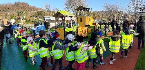 L'inaugurazione dell'area verde inclusiva di Bosco Piuma - Gorizia, 3 dicembre 2019.