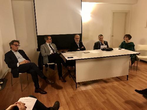 L'intervento del vicegovernatore della Regione Riccardo Riccardi nel corso dell'incontro svoltosi a Palmanova