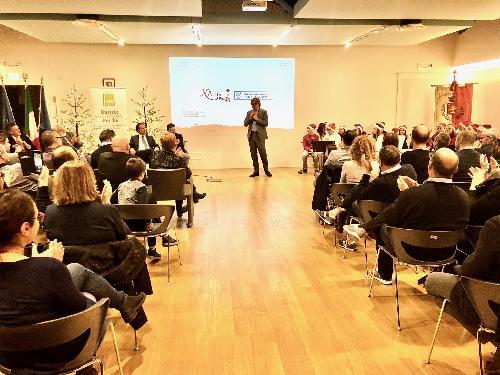 Le conclusioni dell'assessore regionale alle Attività produttive, Sergio Emidio Bini, all'evento dell'associazione 'Buttrio 100 Attività Per Te'.