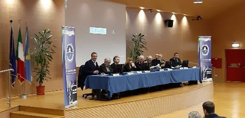 """L'assessore regionale alla Sicurezza Pierpaolo Roberti interviene al convegno """"Sicurezza urbana"""" in auditorium della Regione a Udine"""