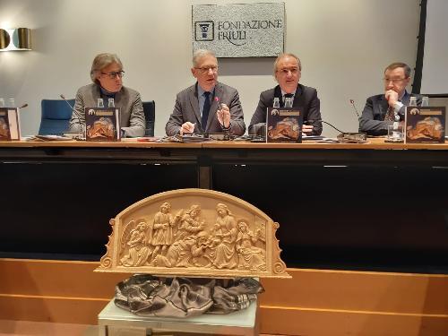 L'assessore al Turismo del Friuli Venezia Giulia, Sergio Emidio Bini, in occasione della conferenza stampa di presentazione del progetto Presepi Fvg 2019 svoltasi a Udine nella sede della Fondazione Friuli.