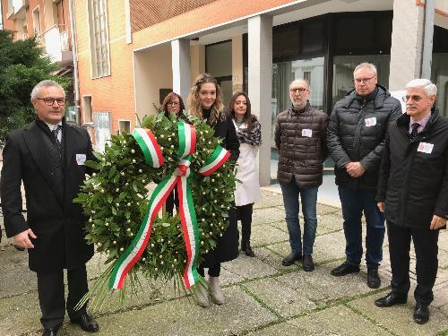 Il vicegovernatore del Friuli Venezia Giulia con delega alla Salute, Riccardo Riccardi, nel corso dei festeggiamenti per il 60. anno di fondazione della locale sezione Afds (associazione friulana donatori sangue).