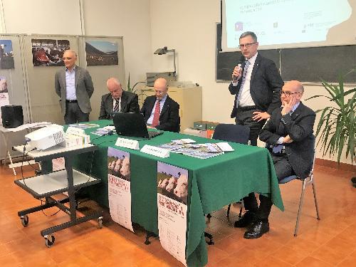 L'intervento dell'assessore regionale alle Risorse agroalimentari Stefano Zannier nel corso del convegno svoltosi a Udine sulla Pezzata rossa
