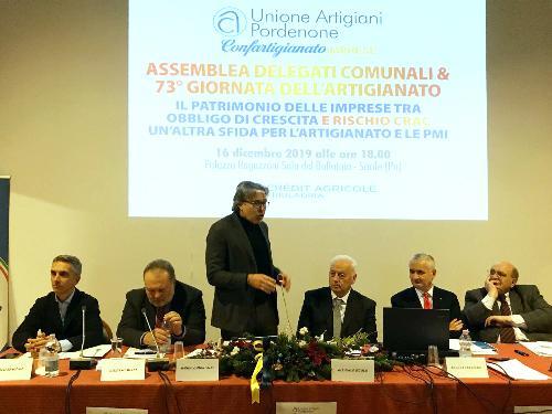 L'assessore regionale alle Attività produttive Sergio Emidio Bini all'assemblea dei delegati comunali e 73. Giornata dell'artigianato svoltasi a Sacile.