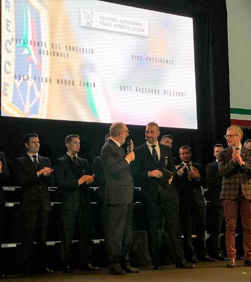 Il vicegovernatore della Regione Riccardo Riccardi alla presentazione della nuova formazione della Pan a Rivolto