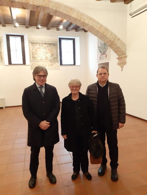 L'assessore regionale Sergio Emidio Bini con la segretaria nazionale Cisl Annamaria Furlan e il segretario regionale Alberto Monticco