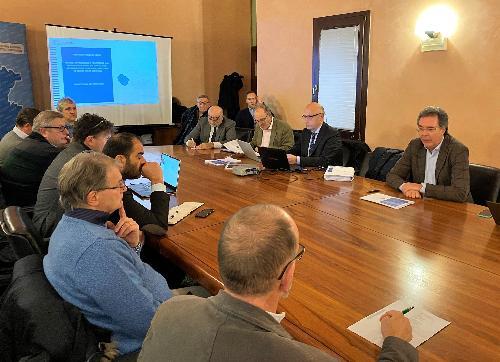 L'assessore regionale Pizzimenti all'incontro sul Tpl in sede della Regione a Pordenone