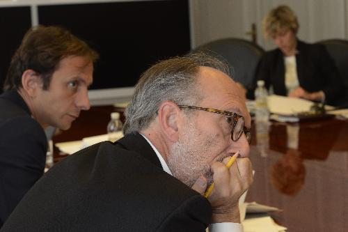 Il governatore del Friuli Venezia Giulia Massimiliano Fedriga e il suo vice con delega alla Salute, Riccardo Riccardi