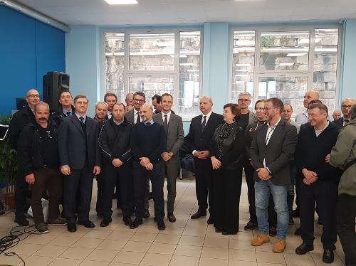 La premiazione dei dipendenti di Trieste Trasporti con maggiore anzianità di servizio.