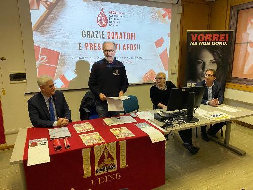 Il vicegovernatore Riccardo Riccardi alla presentazione dei dati 2019 dell'Afds a Udine
