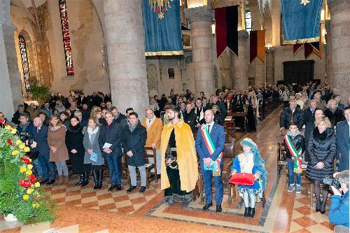 L'assessore regionale Barbara Zilli alla Santa Messa del Tallero nel duomo di Santa Maria Assunta a Gemona
