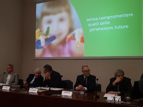 Nel corso della conferenza stampa è stato presentato un video che promuoverà la consultazione pubblica che porterà alla definizione della strategia per lo sviluppo sostenibile del Friuli Venezia Giulia.