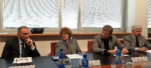 """L'assessore regionale alla Cultura, Tiziana Gibelli, alla presentazione del progetto """"Domeniche d'inverno al museo in Friuli Venezia Giulia"""" in collaborazione con il sistema camerale del Friuli Venezia Giulia - Udine, 16 gennaio 2020."""
