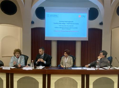 L'intervento dell'assessore regionale alla Cultura Tiziana Gibelli all'incontro del Fai svoltosi a Pordenone