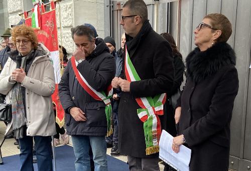 L'intervento dell'assessore regionale alla Cultura Tiziana Gibelli alla cerimonia in piazza XX Settembre a Pordenone