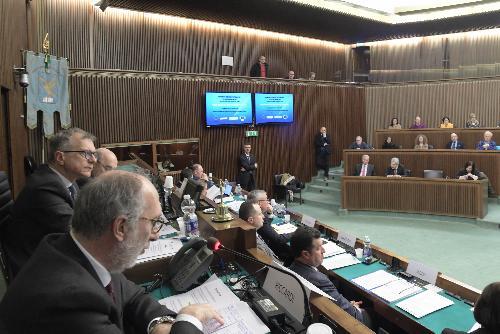 Il vicegovernatore Riccardo Riccardi durante la Conferenza dedicata all'invecchiamento attivo