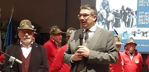 L'assessore regionale alle Autonomie locali e sicurezza, Pierpaolo Roberti, alla prima celebrazione della Giornata nazionale della memoria e del sacrificio alpino - Gorizia, 24 gennaio 2019.